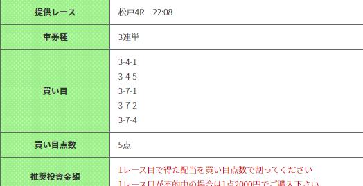 競輪ギア有料予想2019年11月11日松戸4R